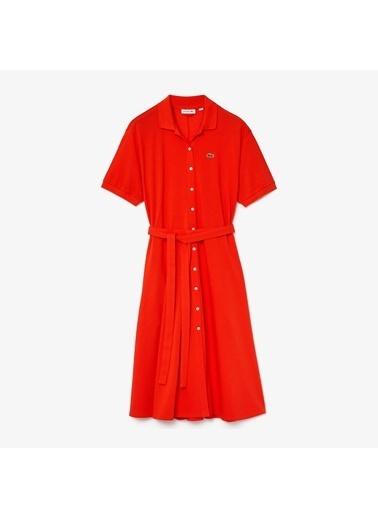 Lacoste Kadın  Tişört EF5471.S5H Kırmızı